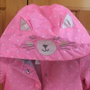 Carter girl's dotted rain jacket